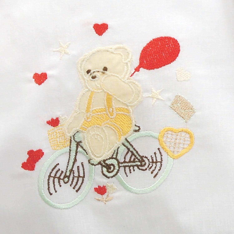 Πετσέτες Παιδικές Σετ My Bike White – Yellow Ρυθμός 2τμχ Σετ Πετσέτες