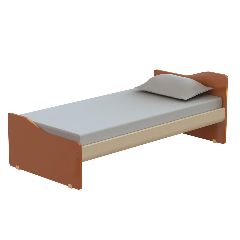 Κρεβάτι Παιδικό Tetra Oak Natural-Orange 207X119 cm Ημίδιπλο