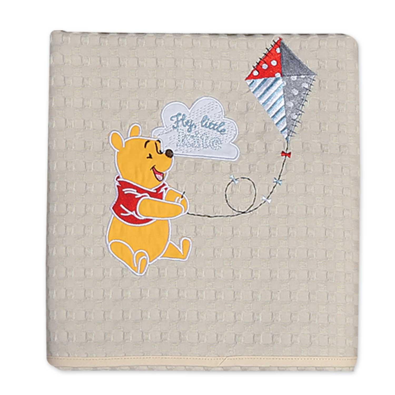 Βρεφική Κουβέρτα Πικέ Fly Kite Beige Nef-Nef Κούνιας 110x150cm