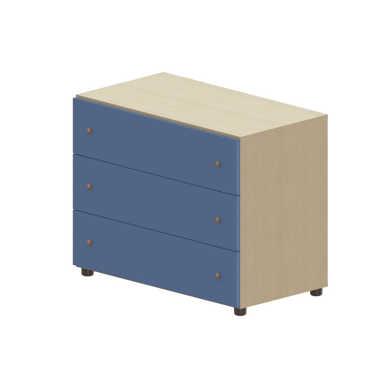 Συρταριέρα Παιδική Child 3 Oak Natural-Ciel 90X69X48 cm
