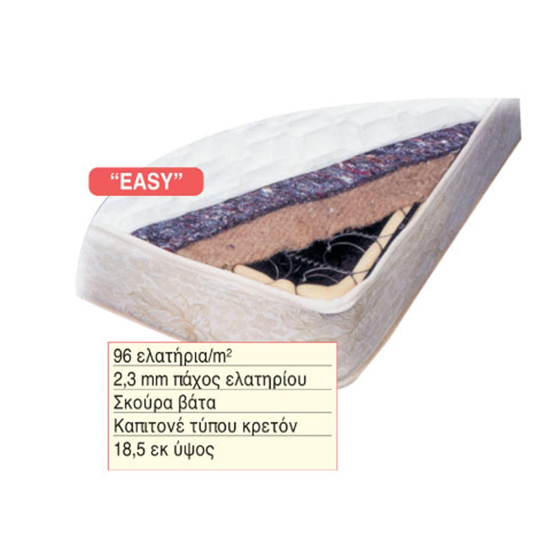 Στρώμα Easy 38-0106 190X90X18.5 cm Μονό
