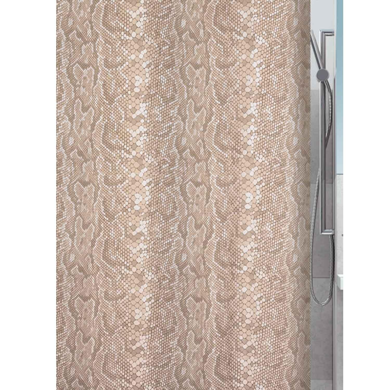 Κουρτίνα Μπάνιου Snake 02010.001 Beige 180X180cm Spirella Φάρδος 180cm 180x180cm