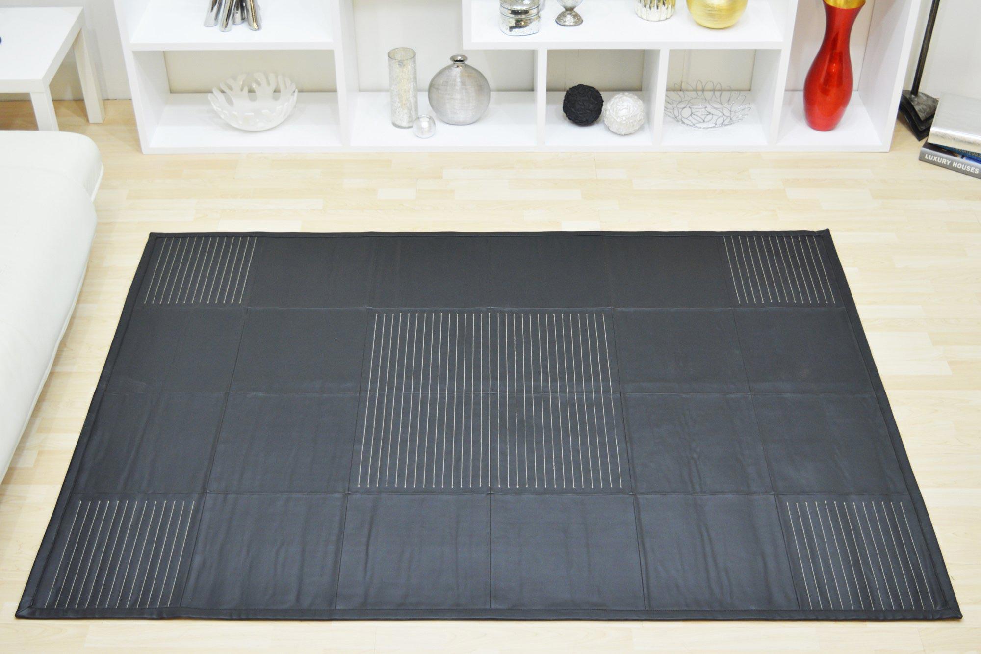 Χαλί Pvc 0011 Stitch Work Black 160X230