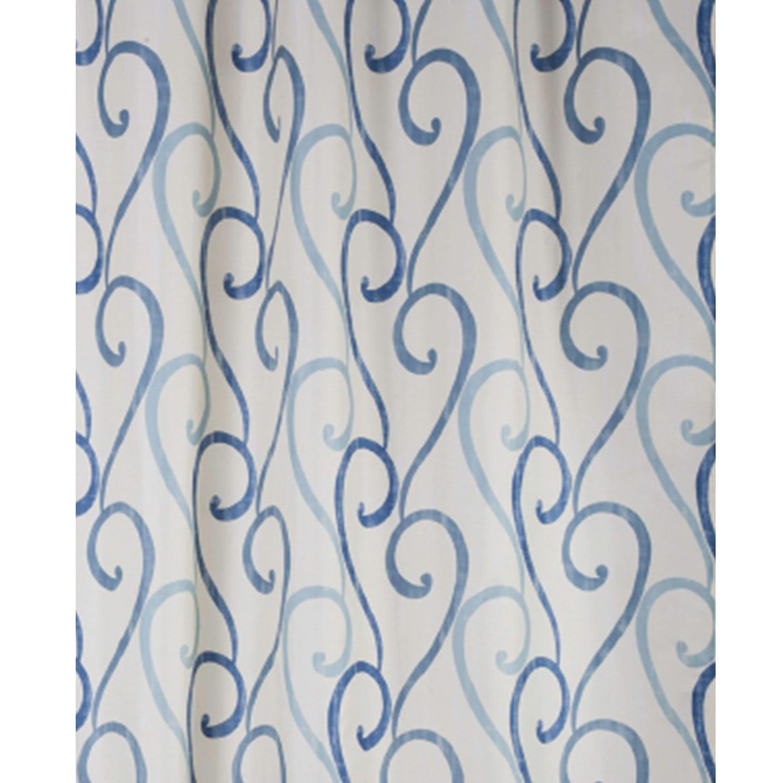 Κουρτίνα Μπάνιου Rimini Blue 02169.001 Blue 180X200 cm Spirella Φάρδος 180cm 180x200cm