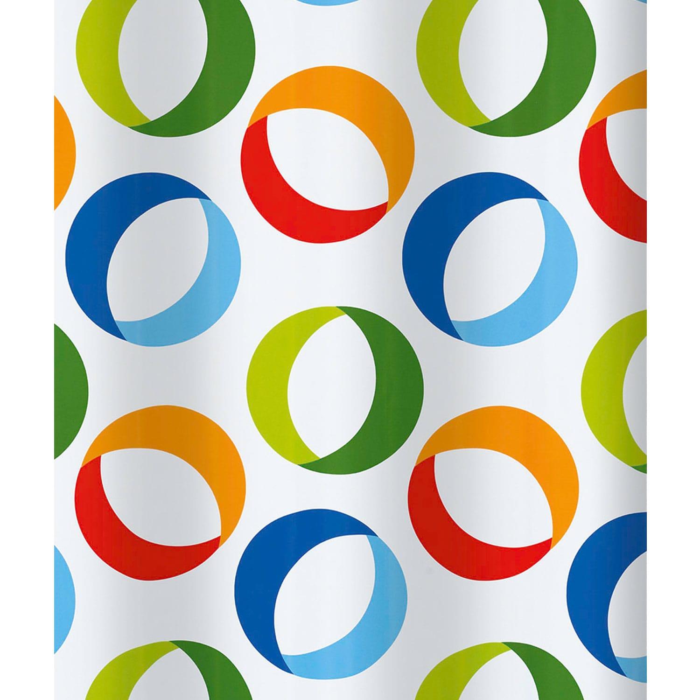 Κουρτίνα Μπάνιου Rings 02170.001 Multi 180X200 cm Spirella Φάρδος 180cm 180x200cm