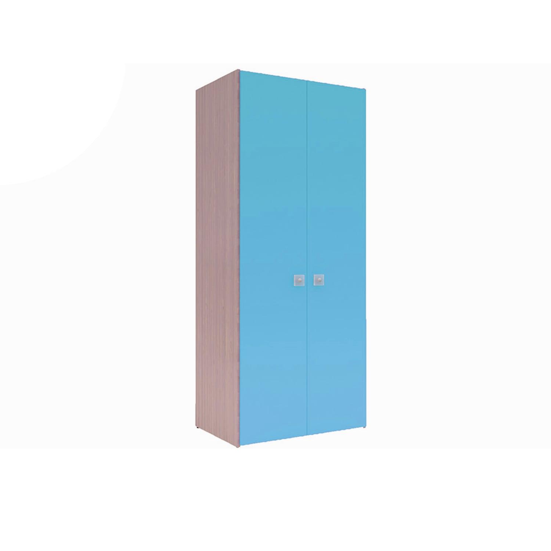 Ντουλάπα Παιδική Uno 2 Oak Natural-Ciel Χωρίς Συρτάρια 90X50X213 cm Δίφυλλη