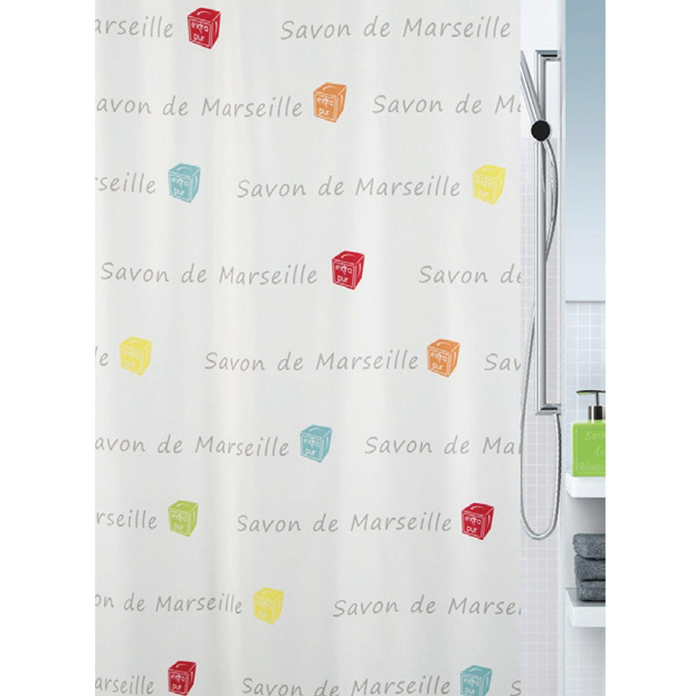 Κουρτίνα Μπάνιου Canebiere 02406.001 Beige 180X200 cm Spirella Φάρδος 180cm 180x200cm