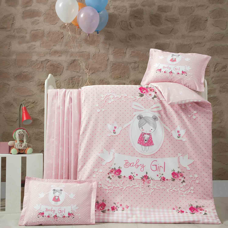 Πάπλωμα Βρεφικό Pretty Girl Pink Ρυθμός 95x145cm