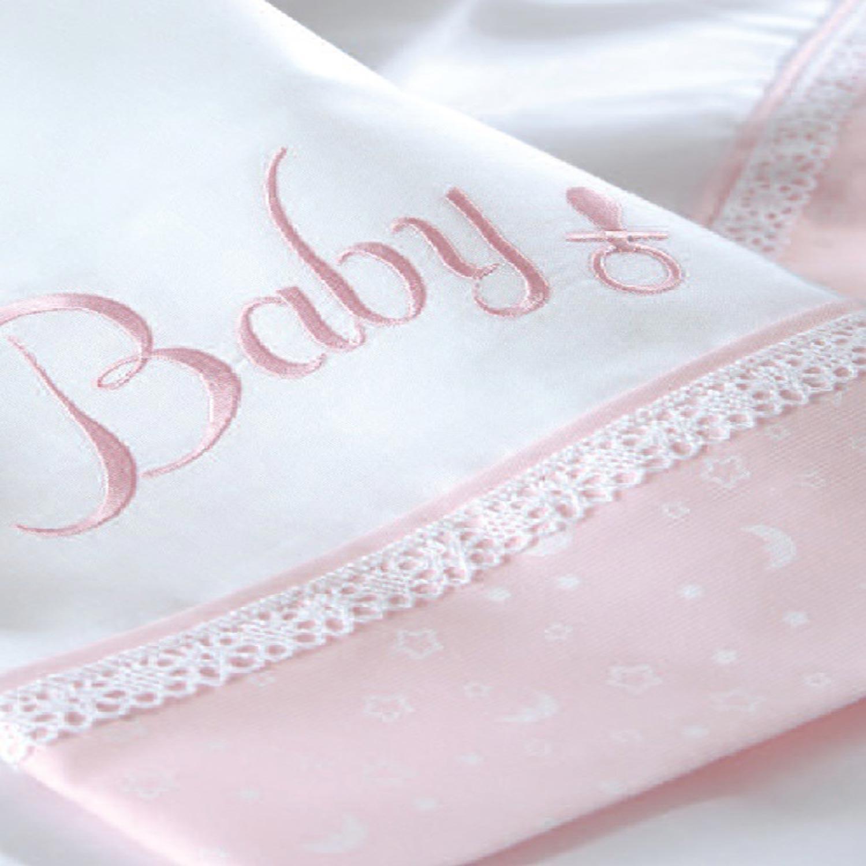 Σεντόνια Βρεφικά (Σετ) Baby Pink Ρυθμός Κούνιας 100x160cm