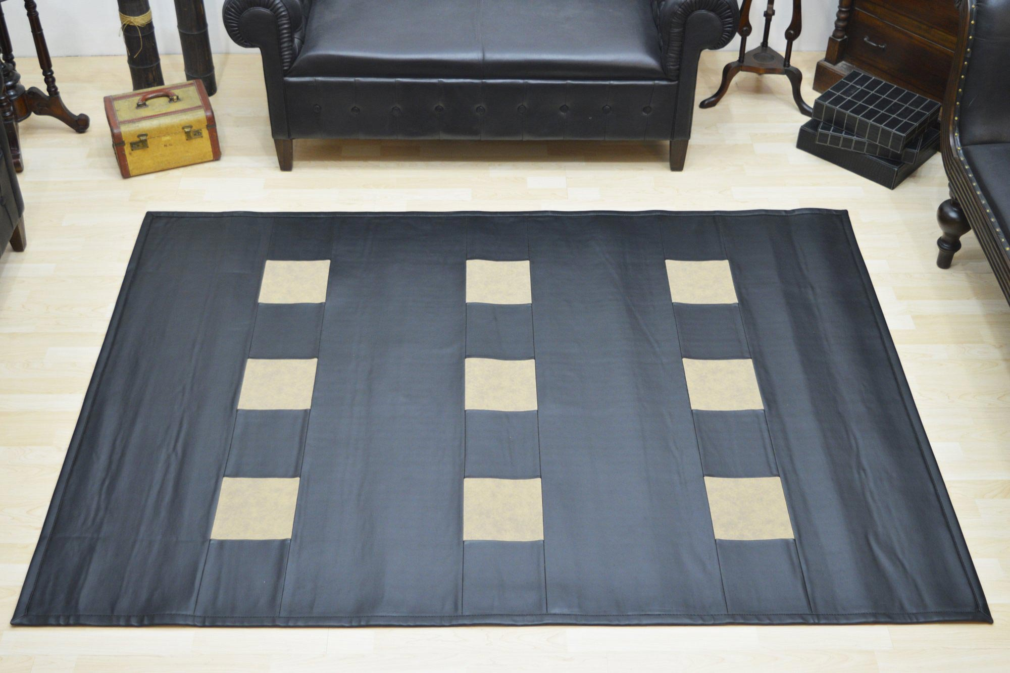 Χαλί Pvc 0009 Marshall Black Taupe 160X230