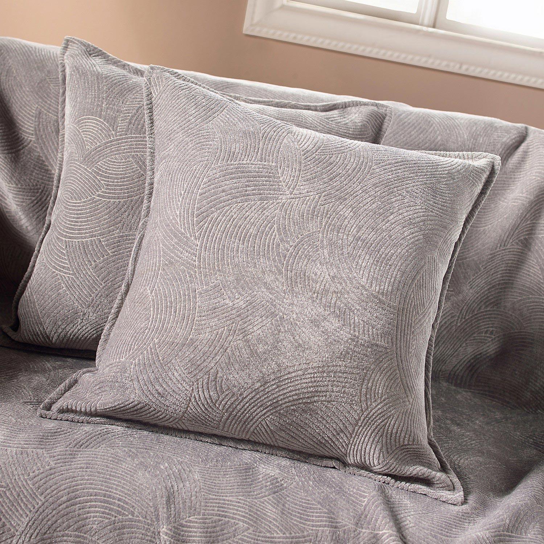 Μαξιλαροθήκη 447 Grey Gofis Home 50X50 Ακρυλικό-Polyester