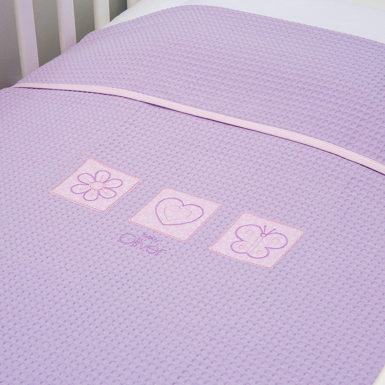 Κουβέρτα Βρεφική Πικέ Des.471 Baby Oliver Κούνιας 100x140cm