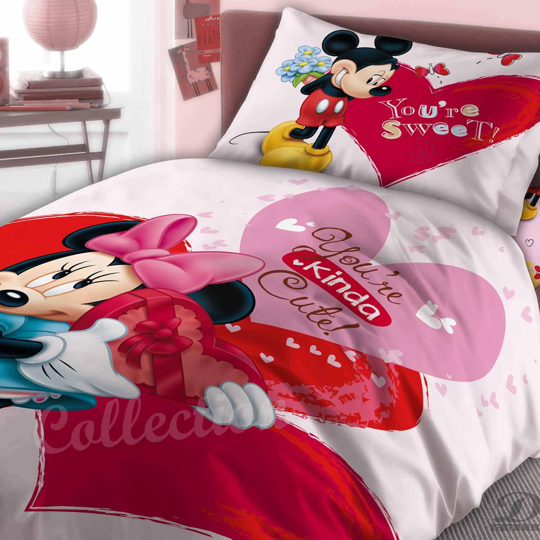 Σεντόνια Παιδικά Σετ 3τμχ Minnie 550 Pink DimCol Μονό 160x250cm
