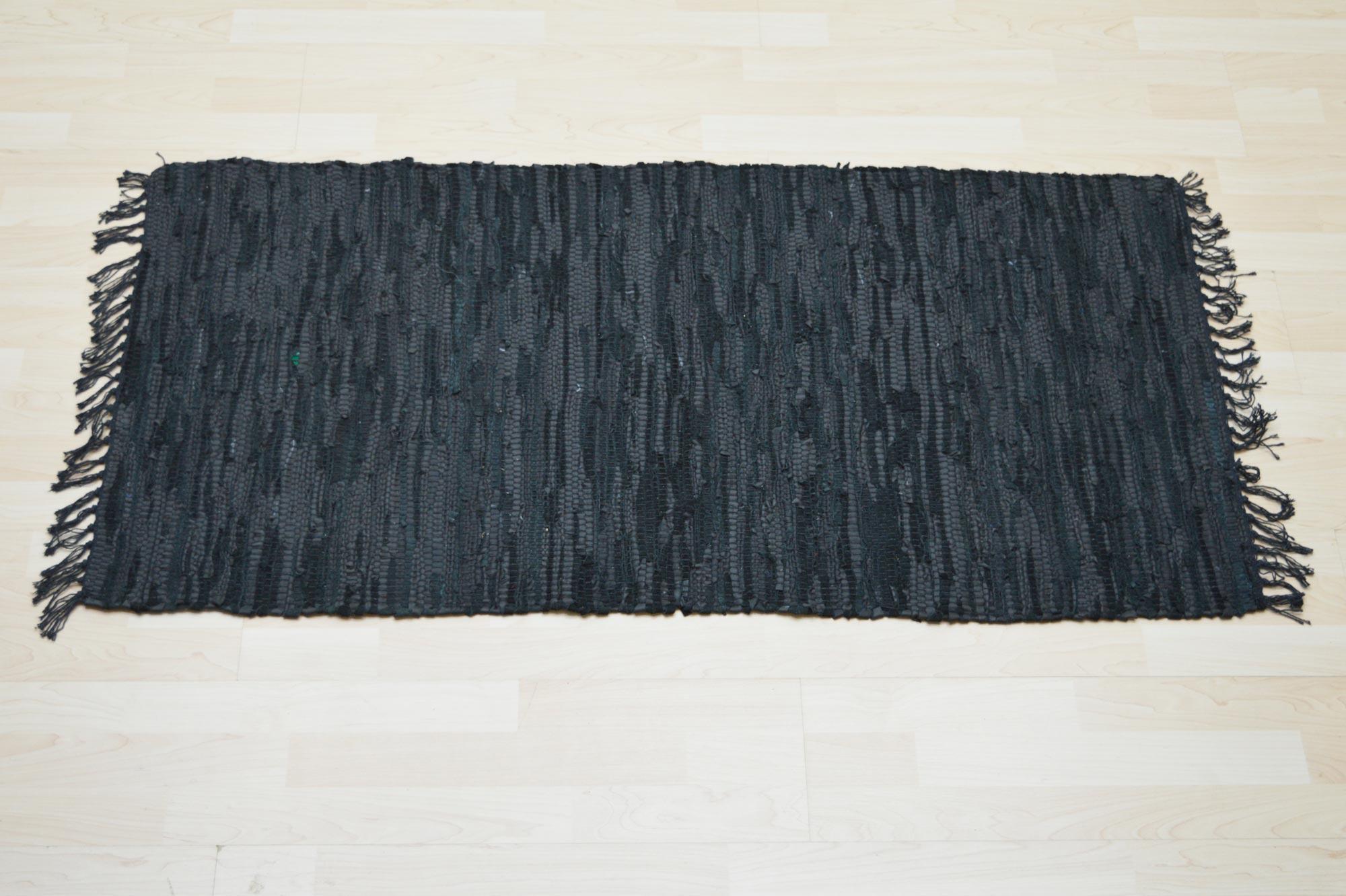 Πατάκια Flat Leather Black 70X150