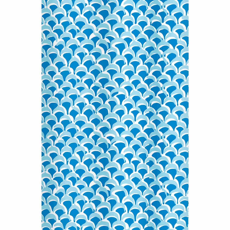 Κουρτίνα Μπάνιου Bluewave 02074.001 Blue 180X200 cm Spirella Φάρδος 180cm 180x200cm