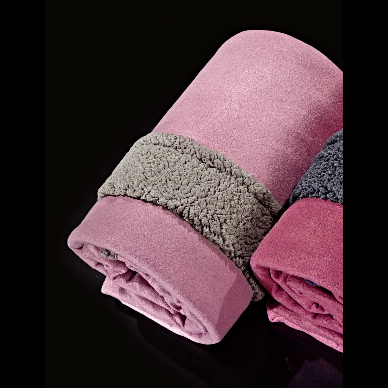 Κουβέρτα Fleece Twinkle Old Rose Nima Υπέρδιπλo 220x240cm