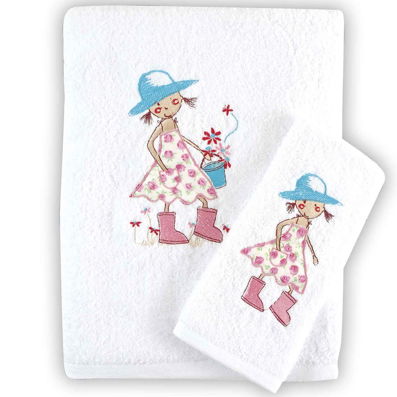Πετσέτες Παιδικές Σετ Florenta White Ρυθμός 2τμχ Σετ Πετσέτες