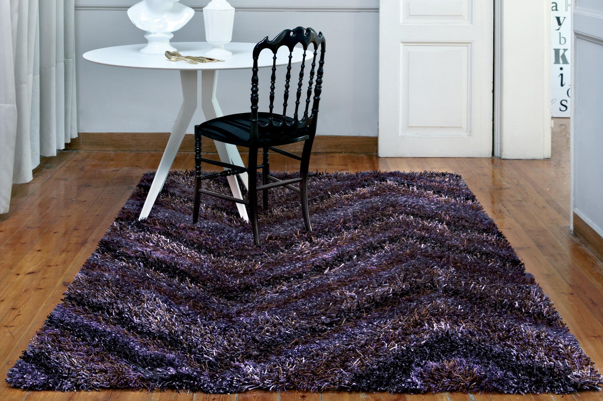 Χαλί Aslanis Shaggy Celestino Purple 160X230