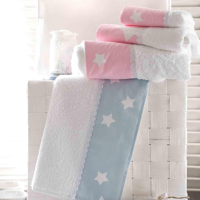 Πετσέτες Σετ Stardust White – Pink Ρυθμός 3τμχ Σετ Πετσέτες