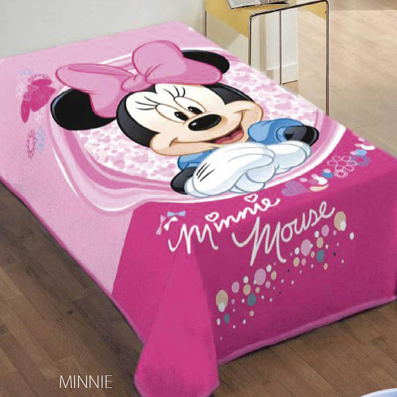 Κουβέρτα Παιδική Minnie Ρόζ DimCol Μονό 160x220cm