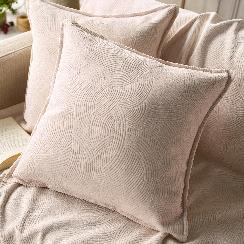 Μαξιλαροθήκη Nimbus 447/05 Ecru Gofis Home 50X50 Ακρυλικό-Polyester
