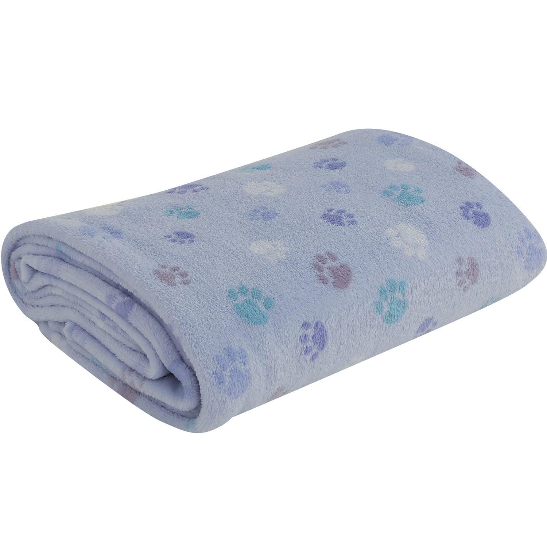 Κουβέρτα Foot Print Blue Nef-Nef Κούνιας 100x140cm
