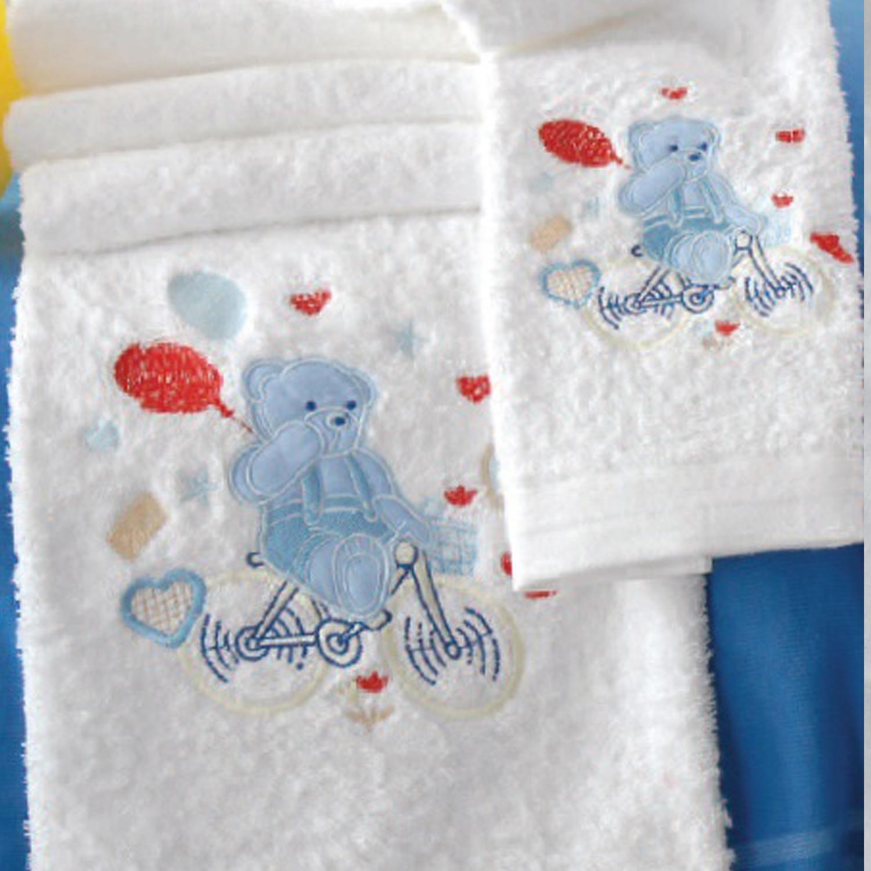 Πετσέτες Παιδικές Σετ My Bike White – Ciel Ρυθμός 2τμχ Σετ Πετσέτες