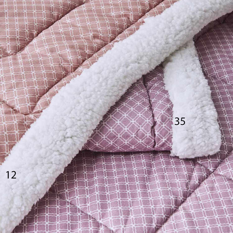 Πάπλωμα με Γούνα Pecora 12 Pink Kentia Υπέρδιπλo 220x240cm