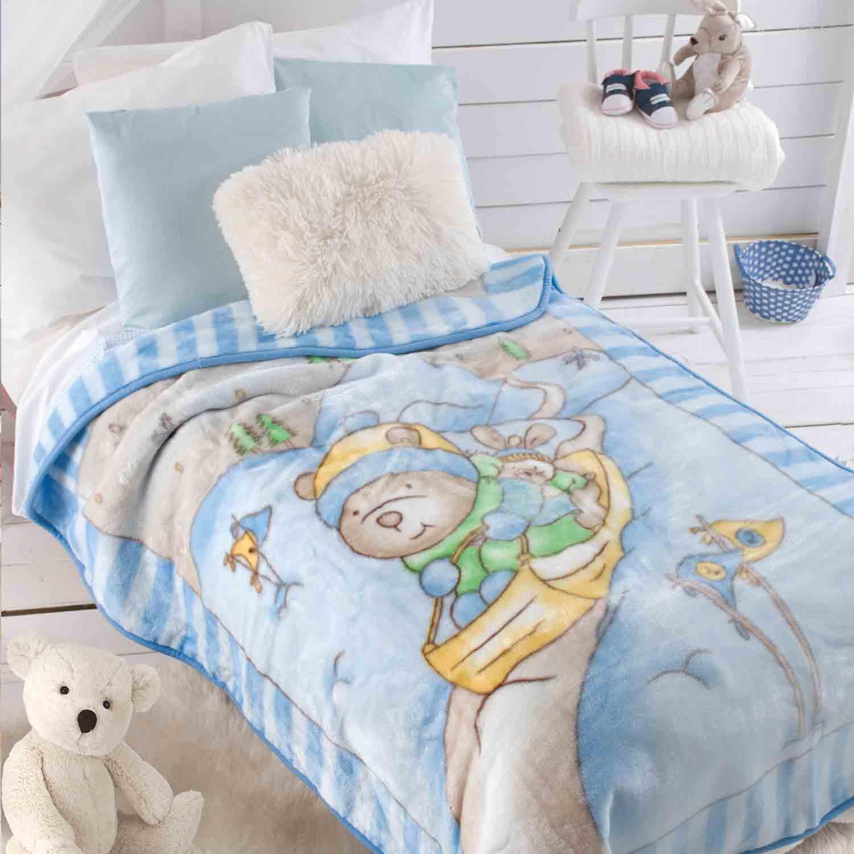 Κουβέρτα Βελουτέ Slade Blue Ρυθμός Κούνιας 110x140cm