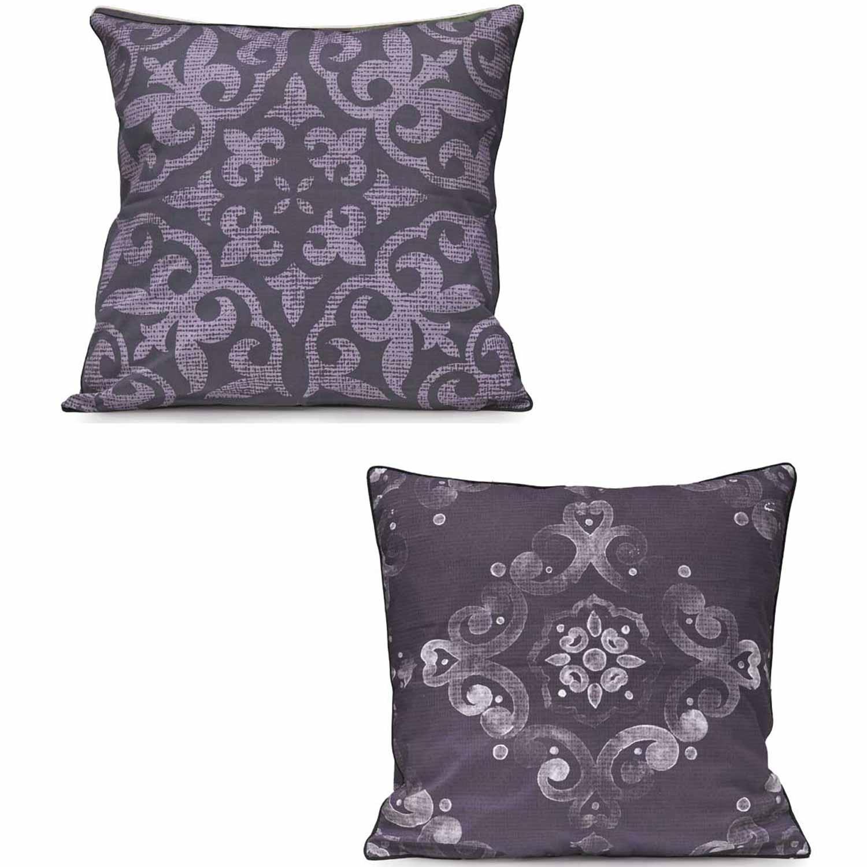 Μαξιλαροθήκη Διπλής Όψης W17 08_42 Purple Kentia 50X50 100% Βαμβάκι