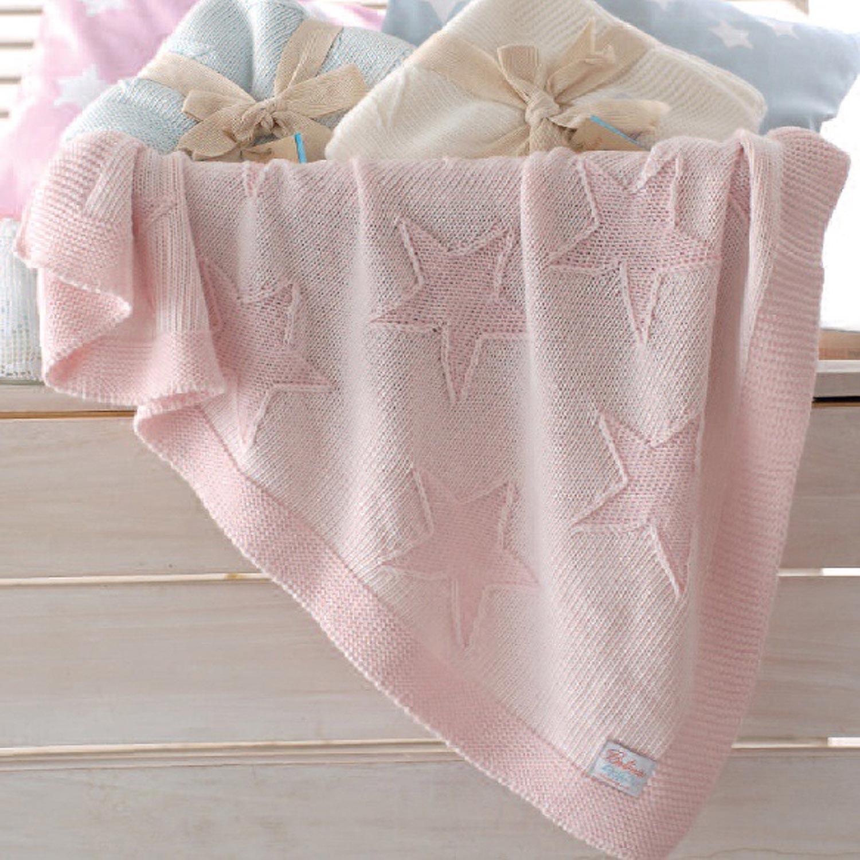 Κουβέρτα Little Stars Pink Ρυθμός Αγκαλιάς 100x100cm