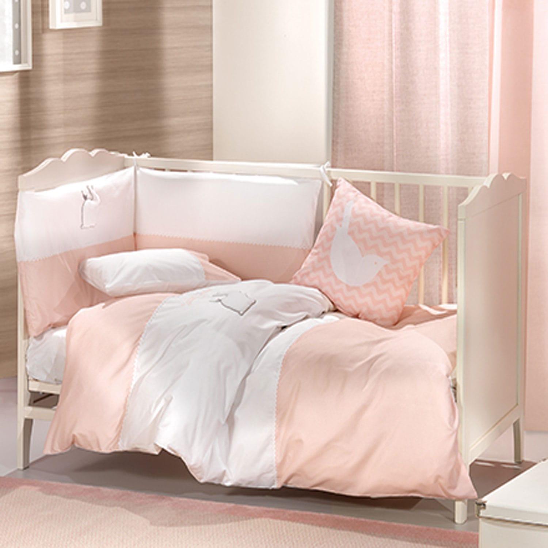 Βρεφικά Σεντόνια Σετ 2τμχ Lapin Pink Saint Clair Κούνιας 110x170cm
