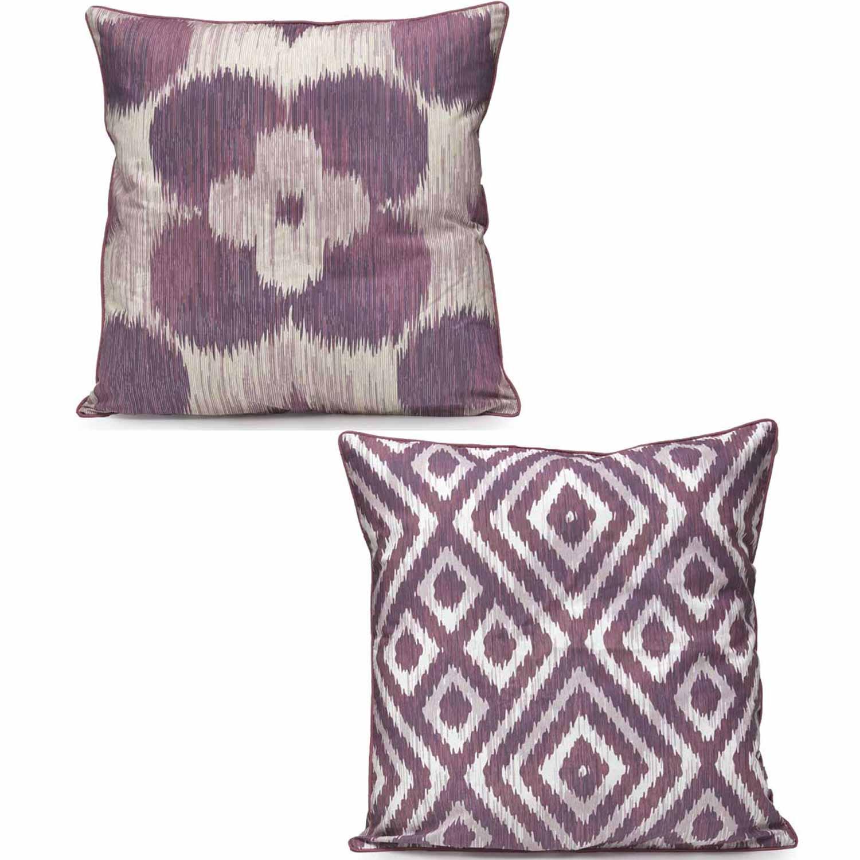 Μαξιλαροθήκη Διπλής Όψης W17 14_05 Purple – Beige Kentia 50X50 100% Βαμβάκι