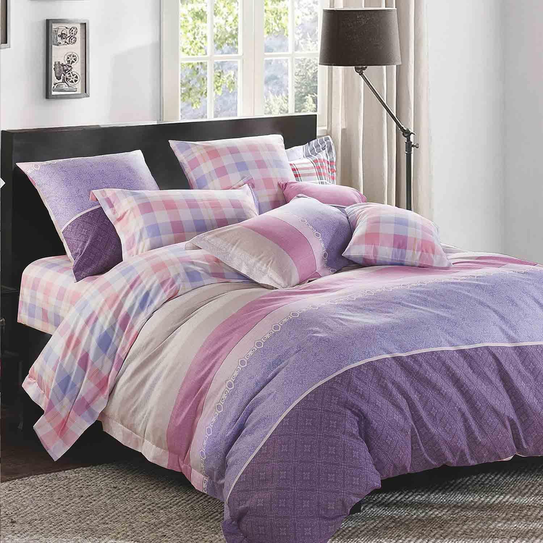 Κουβερλί Σετ Baltazar Purple – Pink Ρυθμός Υπέρδιπλo 220x240cm