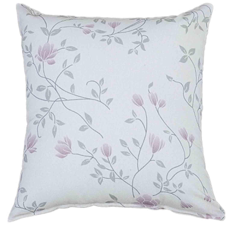 Διακοσμητική Μαξιλαροθήκη Leticia White – Pink Nima 45X45 100% Βαμβάκι