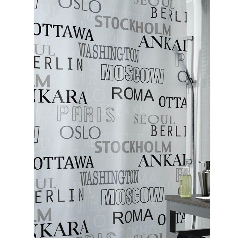 Κουρτίνα Μπάνιου Citta 00824.001 Grey Spirella Φάρδος 180cm 180x200cm