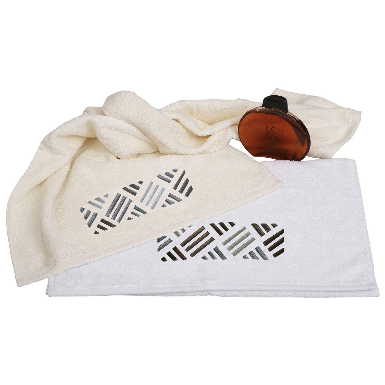 Πετσέτες Σετ 2τμχ. 29 Λευκό Viopros Σετ Πετσέτες