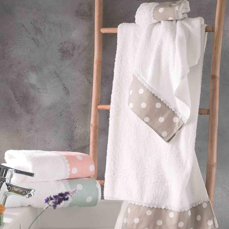 Πετσέτες Σετ με Κουτί Soft Pink Ρυθμός 3τμχ Σετ Πετσέτες