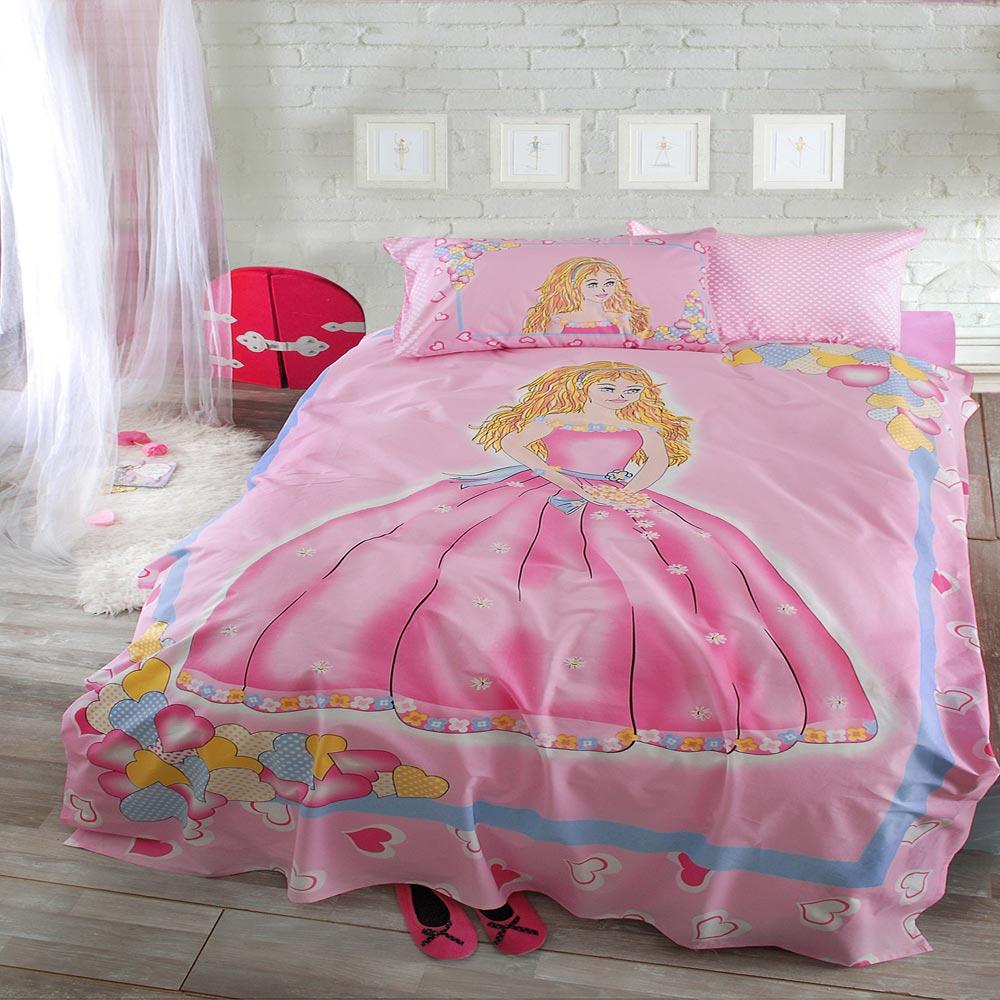Σεντόνια Παιδικά (Σετ) Princess Pink Ρυθμός Ημίδιπλο 160x240cm