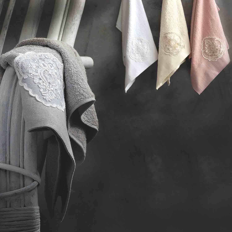 Πετσέτες Σετ Seyla Grey Ρυθμός 3τμχ Σετ Πετσέτες