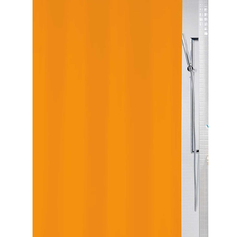 Κουρτίνα Μπάνιου Bio 00825.002 Orange 180X200 cm Spirella Φάρδος 180cm 180x200cm