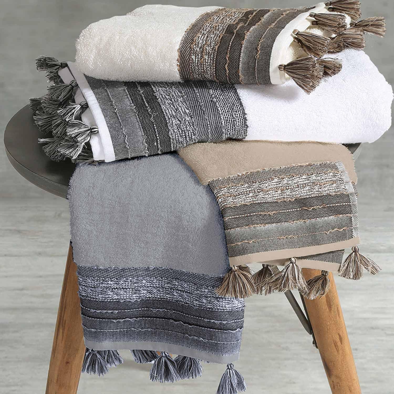 Πετσέτα Authentic Dark Grey Nef-Nef Σώματος 70x140cm