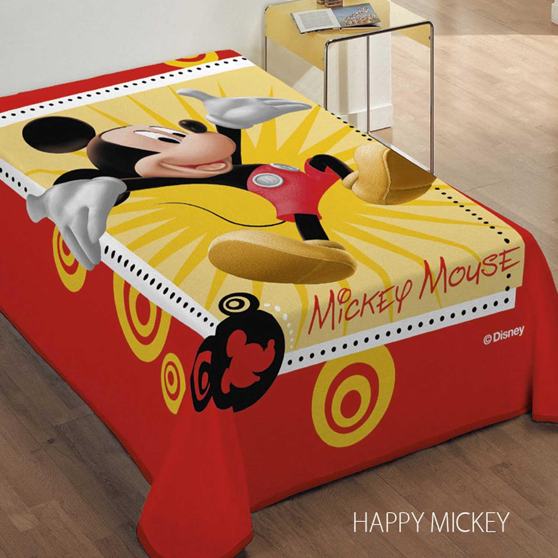 Κουβέρτα Παιδική Happy Mickey Κόκκινο DimCol Μονό 160x220cm