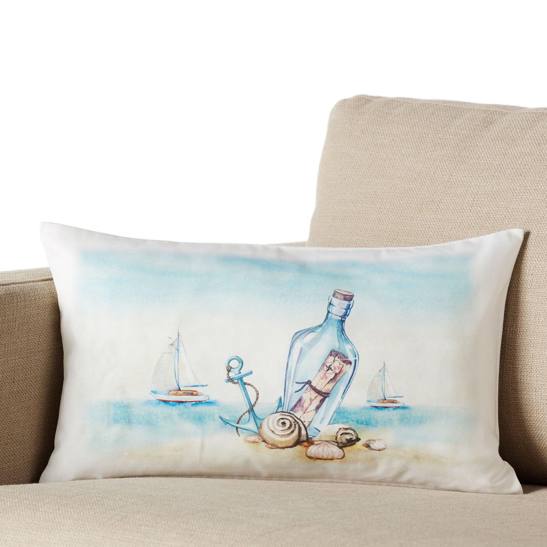 Μαξιλαροθήκη 005 Blue Gofis Home 30Χ50 100% Polyester