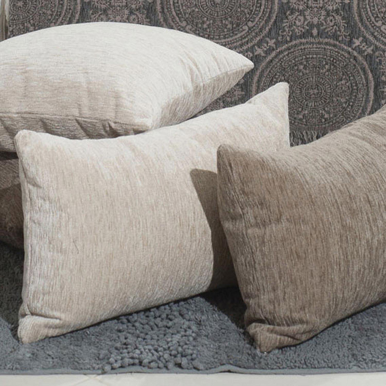 Διακοσμητική Μαξιλαροθήκη Solid Ivory Teoran 30Χ50 Ακρυλικό-Polyester