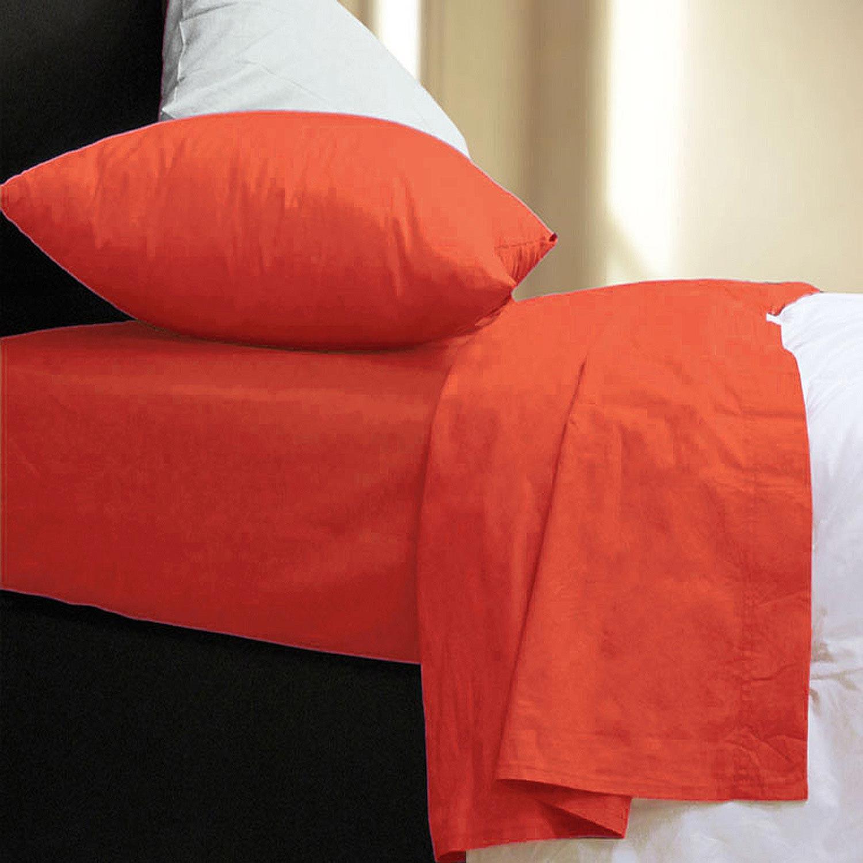 Σεντόνι Με Λάστιχο Basic Orange Nef-Nef Διπλό 120x230cm