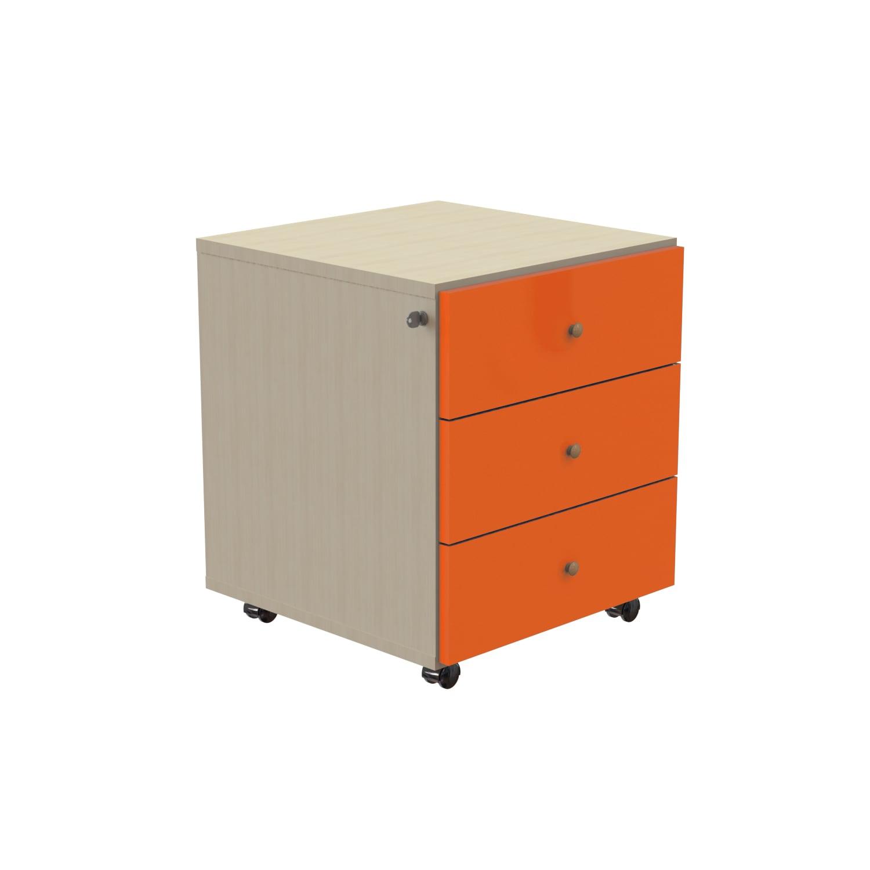 Κομοδίνο Παιδικό Skate Oak Natural-Orange 46X50X46 cm