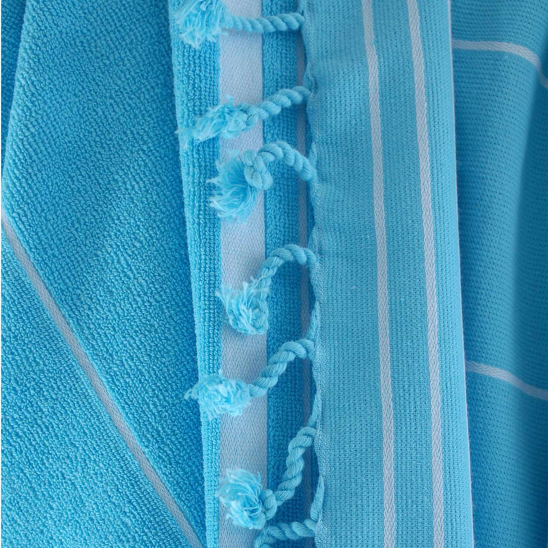 Πετσέτα Θαλάσσης Classic Aqua Ρυθμός Θαλάσσης 80x160cm