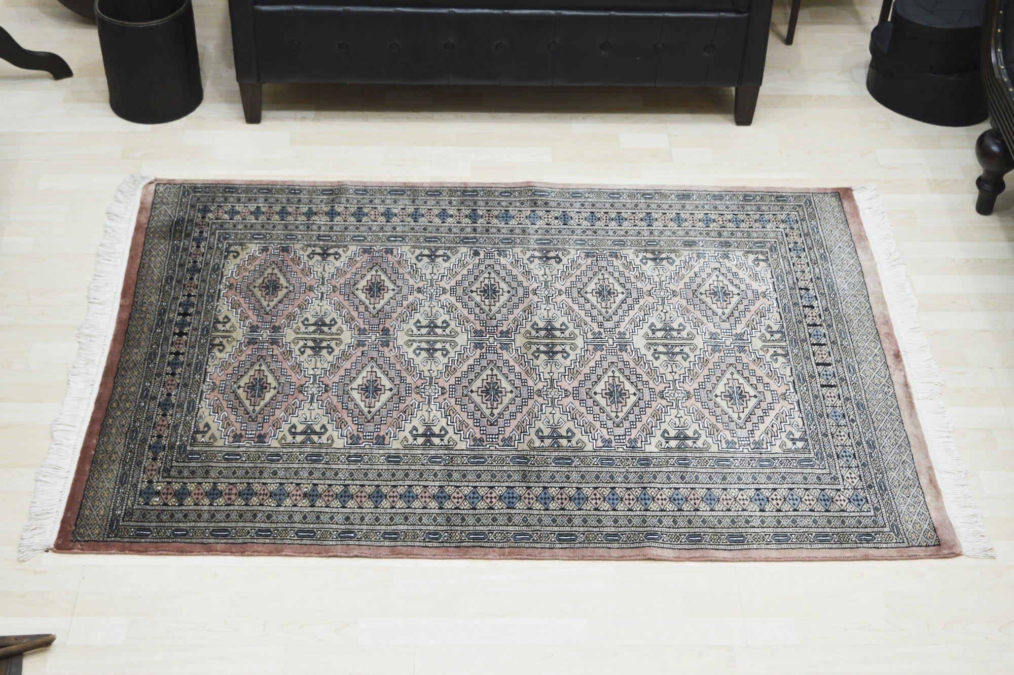 Χειροποίητο Χαλί Pakistan Bukhara Wool-Silk 124Χ178 140X200
