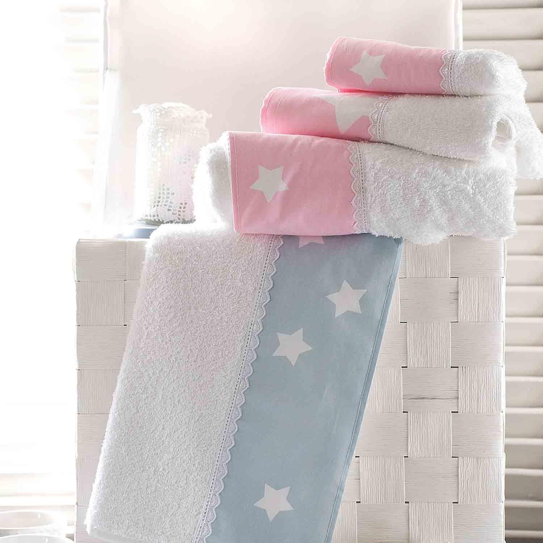 Πετσέτες Σετ με Κουτί Stardust White – Pink Ρυθμός 3τμχ Σετ Πετσέτες